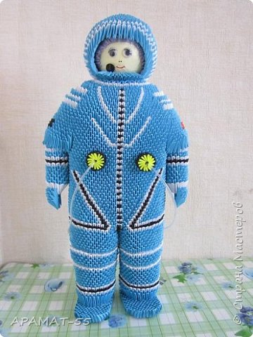 Здравствуйте!!!  Вот ещё одну работу представляю на конкурс. Создался образ космонавта. К полету готов. Высота 60 см. Смотрите. фото 1