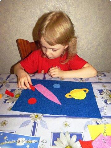 Нам с Ксюшей нравится работать с фетром. Для её возраста несложно, а работа получается яркая. фото 4