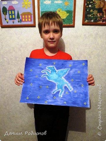 "Я нарисовал героя, которому посвящено созвездие ""Пегас"". фото 4"
