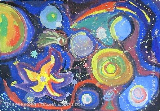 """Наш """"Большой космос"""" сложился из живописных """"космосов"""" группы шестилеток. фото 10"""