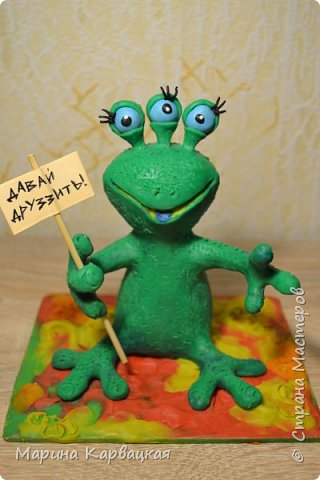 Дорогие друзья! Рада представить вам Зеленого Лупоглазика. фото 9