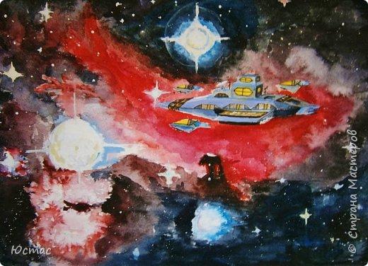 Мы дети Земли. Безмолвный, ослепительный, бесконечный космос – не место для человека. Но мы можем и должны его исследовать для будущих поколений землян. А для этого нам нужны космические корабли, которые как каравеллы Х. Колумба помчат нас по просторам Вселенной фото 1