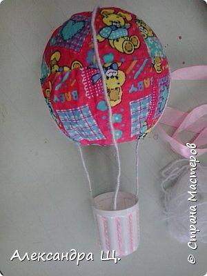Аэростат - упрощенно воздушный шар,  воздухоплавательный аппарат легче воздуха.  Лена смастерила  свой, сувенирный, многофункциональный  воздушный шар.   фото 12