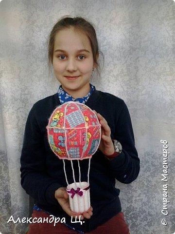 Аэростат - упрощенно воздушный шар,  воздухоплавательный аппарат легче воздуха.  Лена смастерила  свой, сувенирный, многофункциональный  воздушный шар.   фото 13