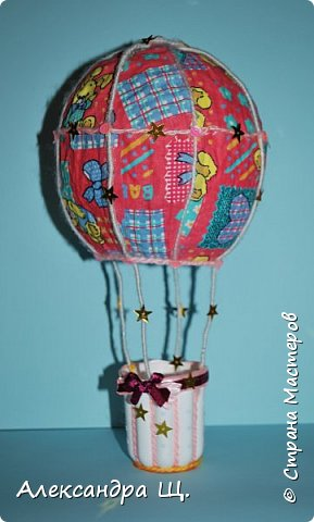 Аэростат - упрощенно воздушный шар,  воздухоплавательный аппарат легче воздуха.  Лена смастерила  свой, сувенирный, многофункциональный  воздушный шар.   фото 1