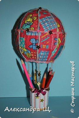 Аэростат - упрощенно воздушный шар,  воздухоплавательный аппарат легче воздуха.  Лена смастерила  свой, сувенирный, многофункциональный  воздушный шар.   фото 3