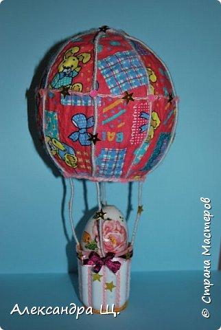 Аэростат - упрощенно воздушный шар,  воздухоплавательный аппарат легче воздуха.  Лена смастерила  свой, сувенирный, многофункциональный  воздушный шар.   фото 7