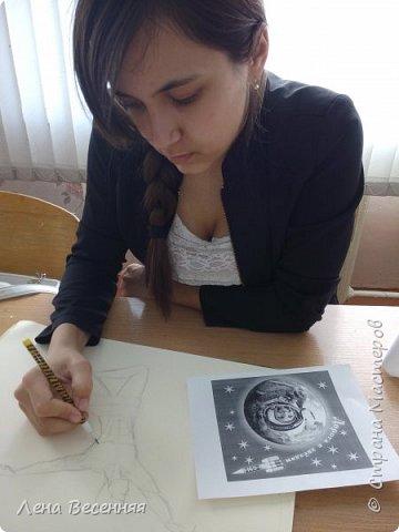 """Здравствуйте!  Представляю работу моей ученицы Ведерниковой Екатерины """"Мы - окрыленные мечтой"""".  фото 2"""