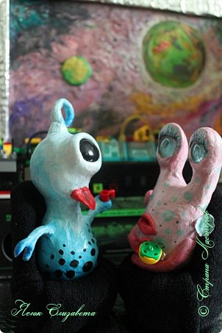 Где-то далеко-далеко-далеко в космосе живут два дружных и весёлых инопланетяшки. Знакомьтесь, это ГЛУНДА и РЕССИ. фото 14