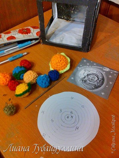 Сделала вот такую модель солнечной системы фото 4