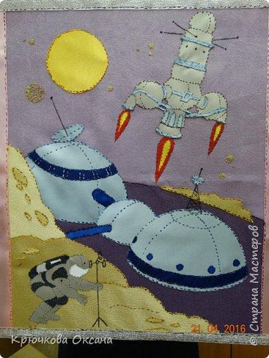 Аня решила изобразить как может выглядеть экспедиция на планету Венера. фото 1