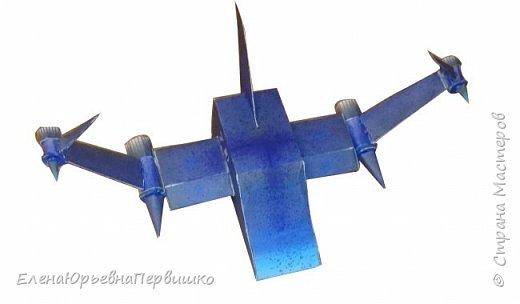 """модель космического разведчика """"Синяя чайка7D"""", крылья модели подвижные фото 1"""