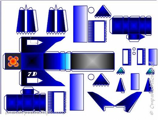 """модель космического разведчика """"Синяя чайка7D"""", крылья модели подвижные фото 6"""