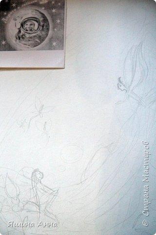 """Здравствуйте! Хотим представить свою работу на конкурс """"Дорога к звёздам!"""" За время учёбы в гимназии мы много раз участвовали в конкурсах на космическую тематику, было всегда интересно....  Узнав о Вашем конкурсе захотелось принять участие - последний конкурс , мы выпускники... Картина """"Мечты у водопада!""""  На рисунке изображена  далекая планета, ее загадочные обитатели и природа ... Всё такое спокойное, как будто окутано   солнечной вуалью.... У водопада сидит девушка, над головой звёздное небо...она мечтает....тишина и спокойствие...   фото 2"""