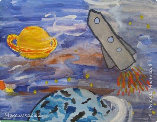 В космосе так здорово! Звёзды и планеты В чёрной невесомости  Медленно плывут! В космосе так здорово! Острые ракеты На огромной скорости Мчатся там и тут! (Оксана Ахметова) фото 1