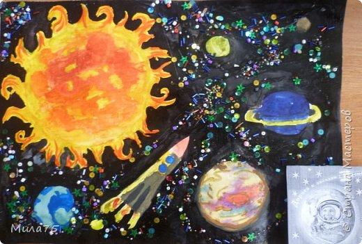 """Это моя работа """"Сатурн под лучами Солнца"""" фото 6"""