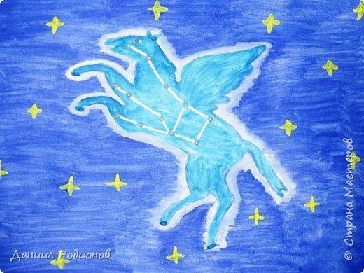 "Я нарисовал героя, которому посвящено созвездие ""Пегас"". фото 1"
