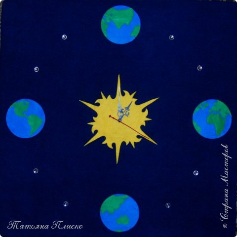 """""""И всё-таки она вертится"""" - прочитала я в условиях конкурса и сразу в голове завертелась идея: планета Земля крутится вокруг Солнца, отсчитывая космическое время. фото 1"""