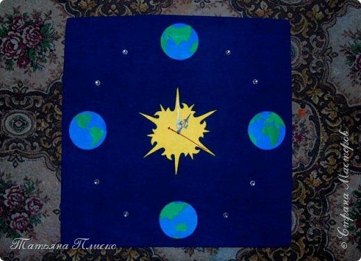 """""""И всё-таки она вертится"""" - прочитала я в условиях конкурса и сразу в голове завертелась идея: планета Земля крутится вокруг Солнца, отсчитывая космическое время. фото 9"""
