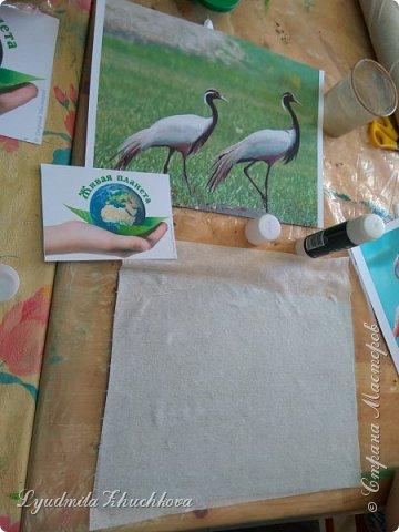 Для участия в конкурсе Алёша выбрал журавля - красавку.  фото 5