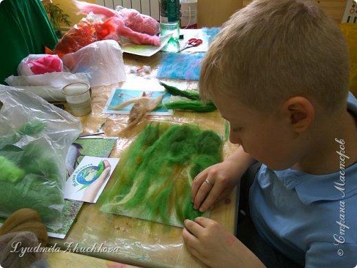 Для участия в конкурсе Алёша выбрал журавля - красавку.  фото 6