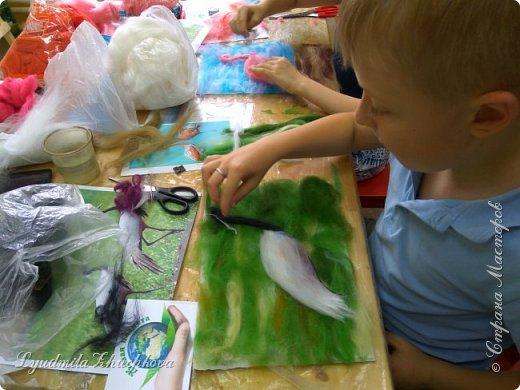 Для участия в конкурсе Алёша выбрал журавля - красавку.  фото 7