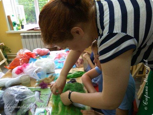 Для участия в конкурсе Алёша выбрал журавля - красавку.  фото 8