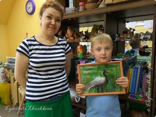 Для участия в конкурсе Алёша выбрал журавля - красавку.  фото 10