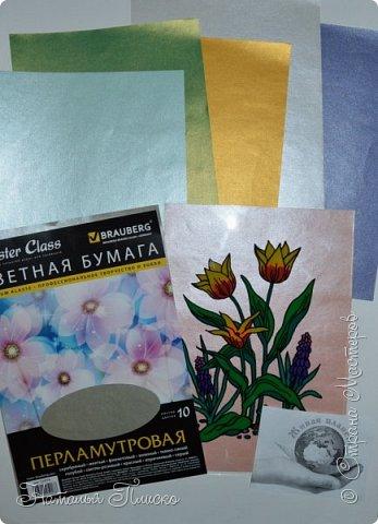 """Здравствуйте, дорогие друзья! Встречайте ещё одну мою конкурсную работу - тюльпан Шренка! В этот раз я решила освоить новую для меня технику - обратную аппликацию из пластилина, которой """"заразилась"""" у Натальи Свиридовой (http://stranamasterov.ru/user/43706). Как написали гости на страничке Натальи - она виртуоз в этой технике, и я с этим абсолютно согласна! Напрашивается вопрос - почему для работы я выбрала именно тюльпаны? А потому, что у меня есть очень хорошая подруга, любительница тюльпанов, вот я и решила """"убить двух зайцев"""" - и в конкурсе поучаствовать, и подругу порадовать) Надеюсь, что ей понравится моя скромная картинка)  фото 9"""