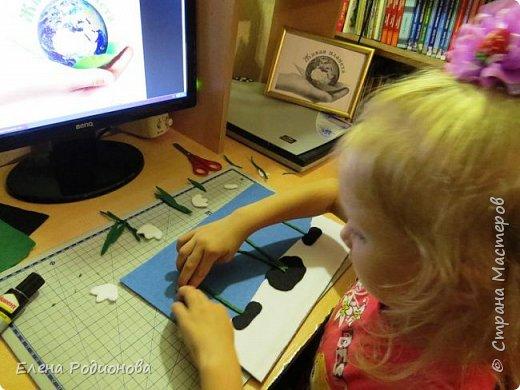 """Решили мы с Ксюшей сделать подснежники в традиционной для неё технике """"Аппликация из фетра"""". фото 5"""