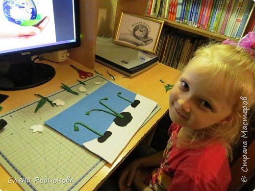 """Решили мы с Ксюшей сделать подснежники в традиционной для неё технике """"Аппликация из фетра"""". фото 6"""