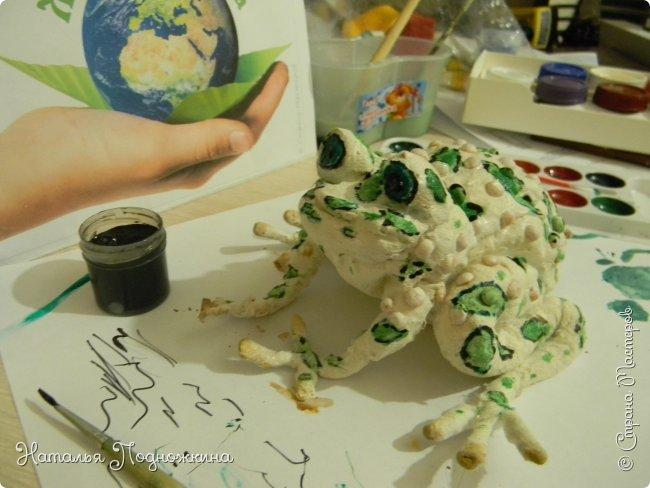 """..Зелёная жаба. Зовут """"Квакша"""". Появилась и посилилась у нас в группе детского сада в процессе проекта """"Эти  удивительные  существа -  лягушки и жабы"""" фото 14"""
