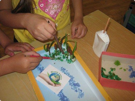 В пришкольный лагерь «Малышок» мы пришли, Друзей и подруг быстро нашли. Наталья Геннадьевна нам сообщила, Что «Страна Мастеров» новый конкурс   открыла «Живая природа».  фото 12