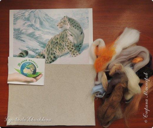 Для участия в конкурсе решила изобразить снежного барса. На конкурс представлено уже несколько портретов этих прекрасных диких кошек, вот мой вариант. фото 3
