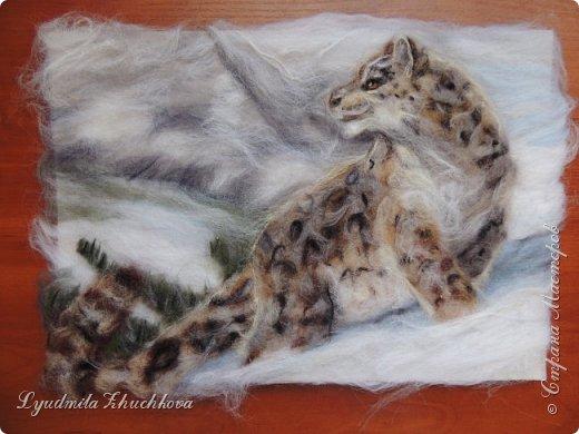 Для участия в конкурсе решила изобразить снежного барса. На конкурс представлено уже несколько портретов этих прекрасных диких кошек, вот мой вариант. фото 5