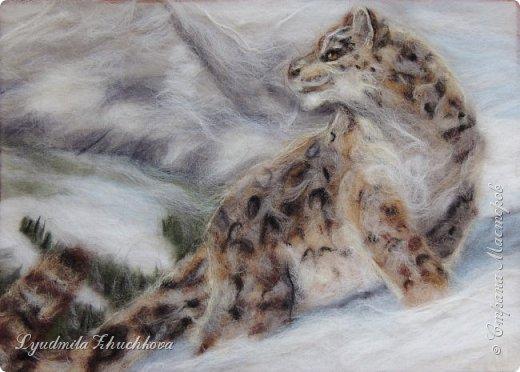 Для участия в конкурсе решила изобразить снежного барса. На конкурс представлено уже несколько портретов этих прекрасных диких кошек, вот мой вариант. фото 8