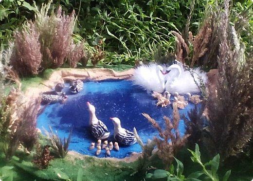 Добрый день. Я хочу рассказать о природе родного для моих детей и ставшего родным для меня края – Тверской области. Свою работу мы назвали «Райский уголок Верхневолжья». Ставшие редкими и совсем переставшие гнездиться в здешних краях птицы на нашем маленьком озере даже выводят птенцов. Мы постарались передать местный ландшафт, красоту озер и лесов. фото 1