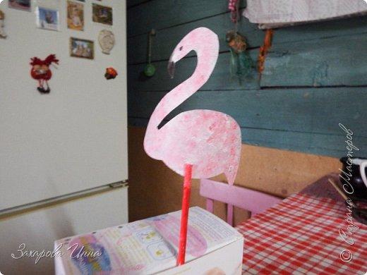 Розовый фламинго - украшение для торта фото 8