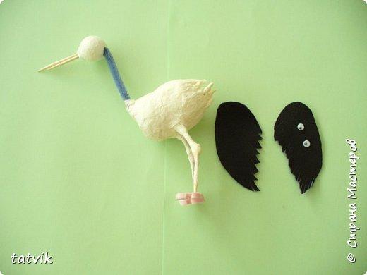 Придумали мы с ребятами смастерить пару чёрных аистов. Вот что у нас получилось. фото 8
