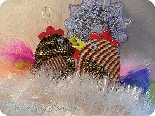 Всем доброго дня! Вот и мои петушки прибежали на конкурс! Скоро Новый год и мне очень захотелось, что бы на нашей домашней елочке были игрушки, которые я сделала сама. фото 1