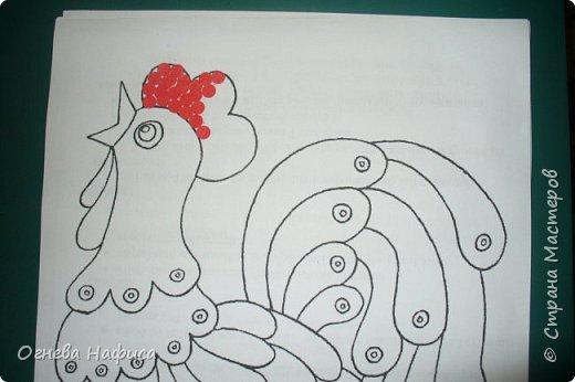 Сказочный петушок из конфетти. фото 4