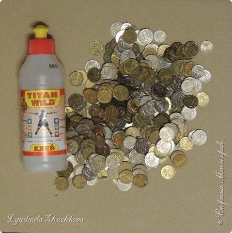 На конкурс я решил изготовить петушка, используя монетки. фото 2