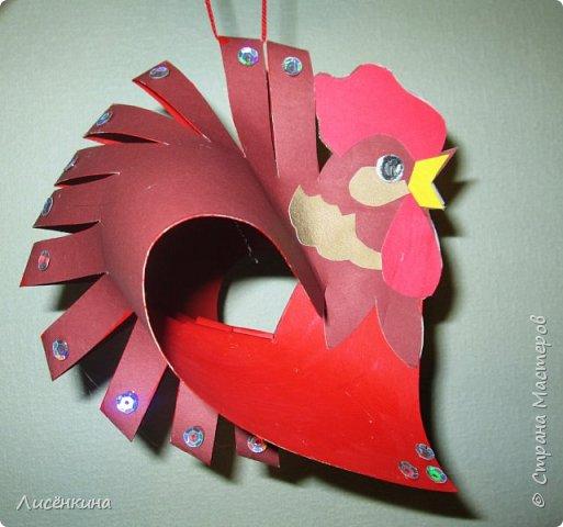 """Здравствуйте дорогие мастера и мастерицы. Хочу представить на конкурс«Встречаем Огненного Петуха» свою работу """"Красный петушок алый гребешок""""  фото 1"""