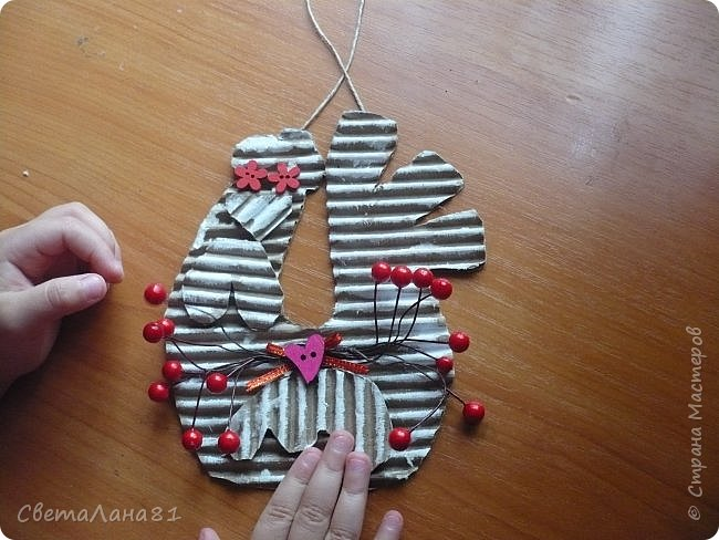 Добрый день Страна! Хотим представить МК по созданию новогоднего петушка-подвески. фото 1