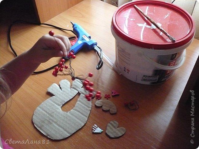 Добрый день Страна! Хотим представить МК по созданию новогоднего петушка-подвески. фото 2