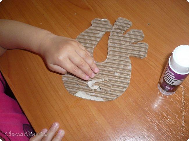 Добрый день Страна! Хотим представить МК по созданию новогоднего петушка-подвески. фото 4