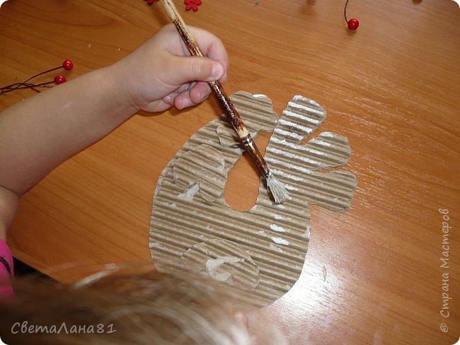 Добрый день Страна! Хотим представить МК по созданию новогоднего петушка-подвески. фото 6