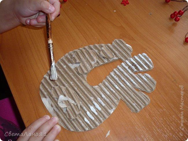 Добрый день Страна! Хотим представить МК по созданию новогоднего петушка-подвески. фото 7