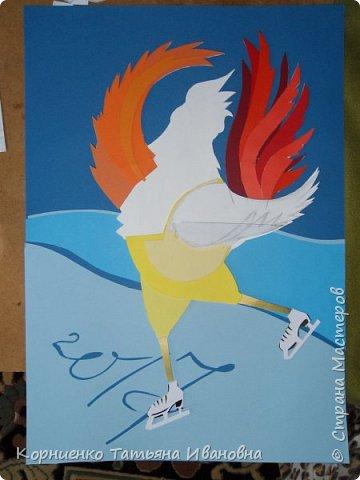 """Пётр Огневович просится в теле-программу """"Танцы на льду"""". Захотелось сделать петушка похожего на пламя свечи. раз уж он огненный в этом году. фото 6"""