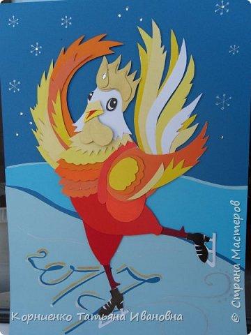 """Пётр Огневович просится в теле-программу """"Танцы на льду"""". Захотелось сделать петушка похожего на пламя свечи. раз уж он огненный в этом году. фото 15"""